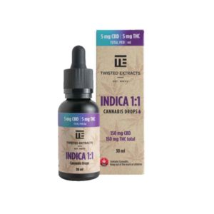 Buy Twisted Extracts Indica 1-1 Drops - Orange Flavour EZ Weed Online