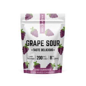 Buy Pacific CBD - Grape Sour Gummies 200MG EZ Weed Online