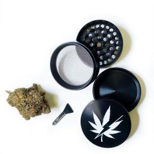 Buy EZWeed Grinder - Black/Leaf EZ Weed Online