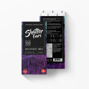 Buy Euphoria Extractions Indica Shatter Bar 500MG - Milk Chocolate EZ Weed Online