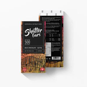 Buy Euphoria Extractions Sativa Shatter Bar 500MG - Milk Chocolate EZ Weed Online