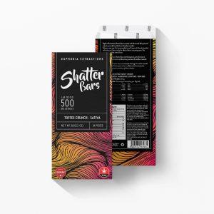 Buy Euphoria Extractions Sativa Shatter Bar 500MG - Toffee Crunch EZ Weed Online