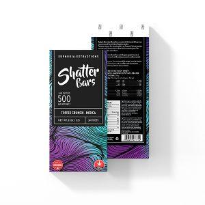Buy Euphoria Extractions indica Shatter Bar 500MG - Toffee Crunch EZ Weed Online