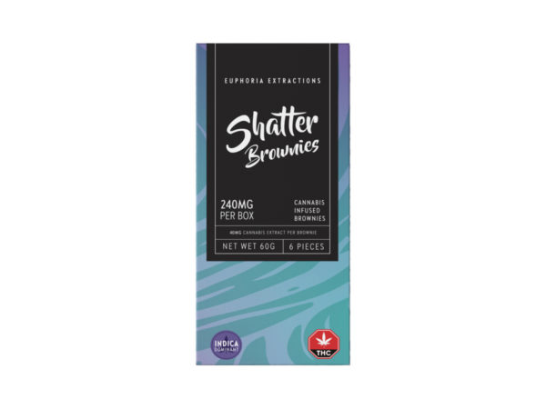 Buy Euphoria Extractions Indica Shatter Brownies 240MG EZ Weed Online