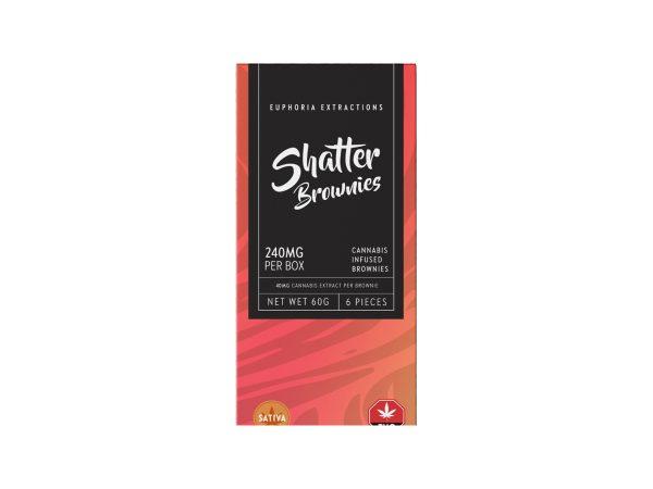 Buy Euphoria Extractions Sativa Shatter Brownies 240MG EZ Weed Online