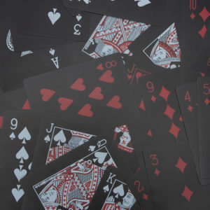 ezweed playing cards red/black