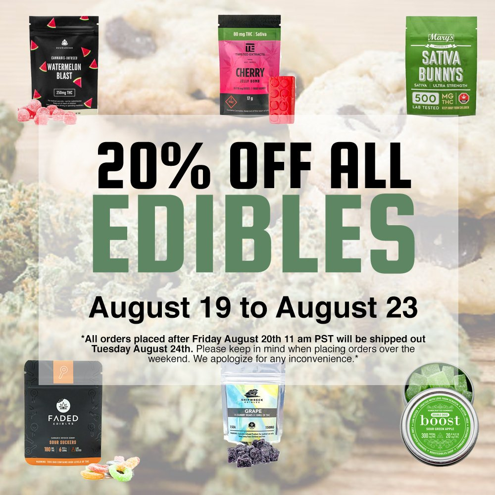 20% off edibles