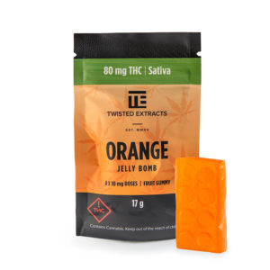 Buy Twisted Extracts - Orange Jelly Bomb | 80MG THC (Sativa) EZ Weed Online