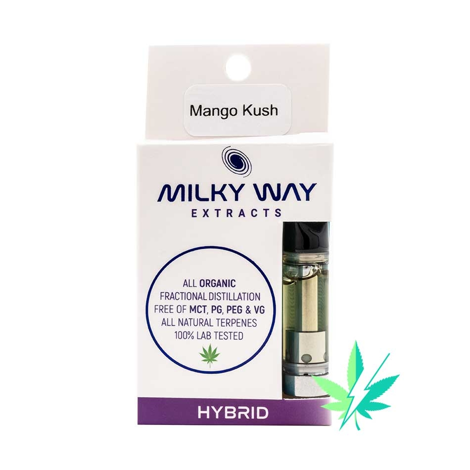 MILKY WAY EXTRACTS – VAPE CARTRIDGE – MANGO KUSH – HYBRID